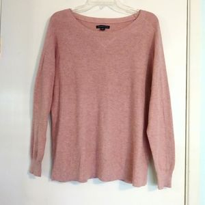 American Eagle Blush Pink Knit Crew Neck Sweater